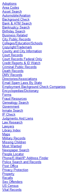 public record searches