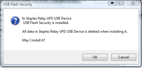 flash drive security warning