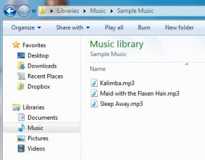 sample music files
