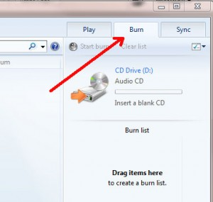 burn audio cd with Windows Media Players