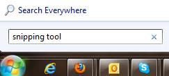 Windows 7 snipping tool