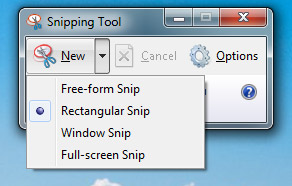 snip tool options