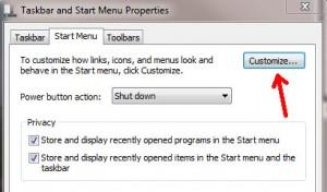 Windows 7 customize
