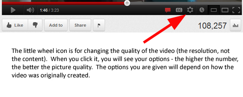 YouTube resolution quality
