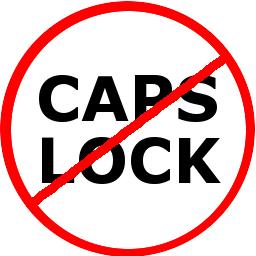 Turn off caps lock