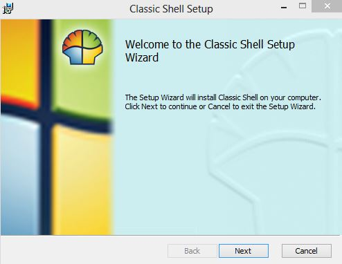Classic Shell installation