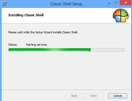 Classic Shell installing