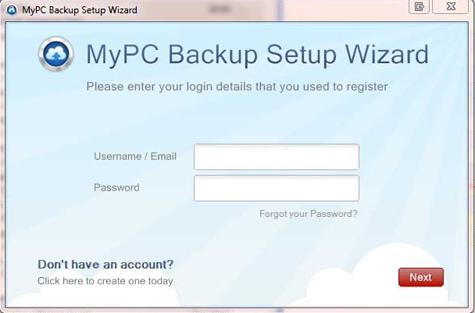 MyPC Backup software