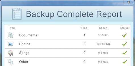 MyPC Backup complete
