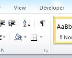 Image for How to get back the MS Word ribbon