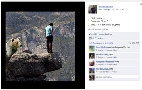fake FB image
