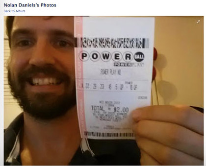 Facebook fake lottery ticket