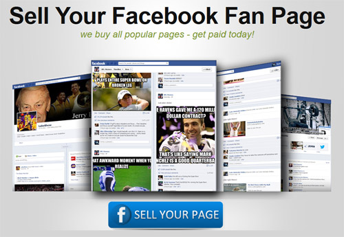 sell your Facebook fan page