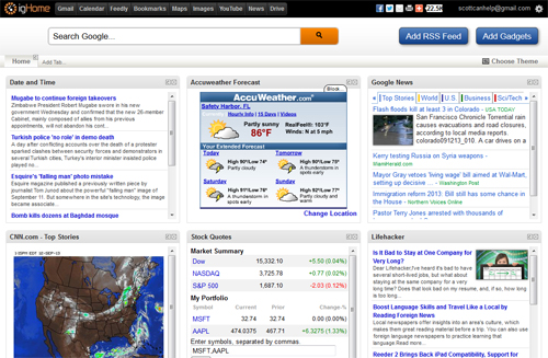 igoogle alternatives for your home page google