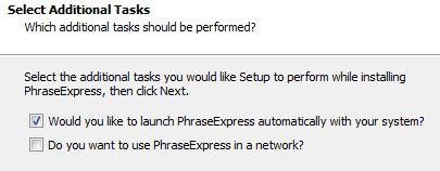 Phrase Express installation