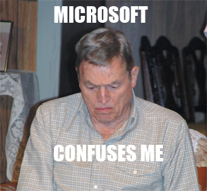 Microsoft is confusing