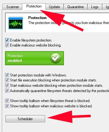 Malwarebytes setup