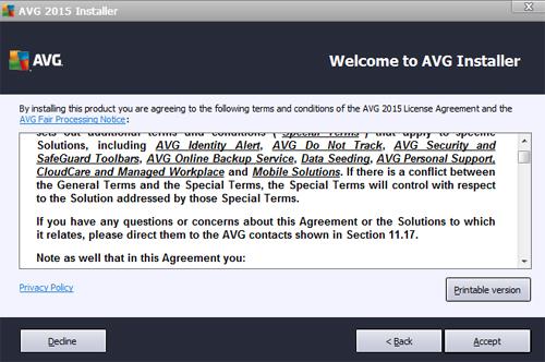 AVG terms