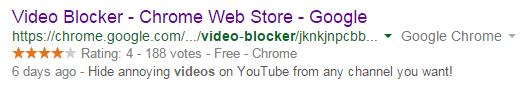 video blocker for chrome