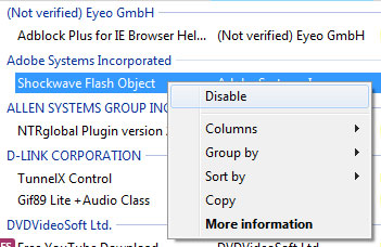 flash block internet explorer