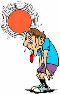 overheated runner