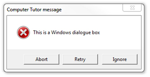 Windows dialogue box