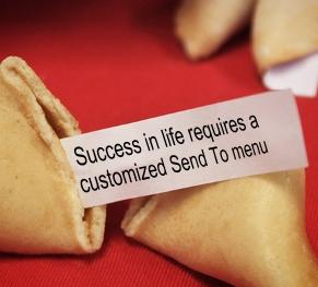 customize send to menu