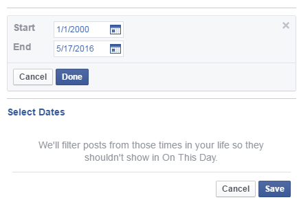 facebook nostalgia