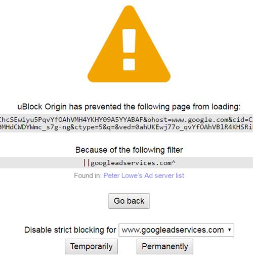 ublock block