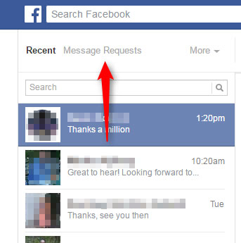 Facebook hidden messages