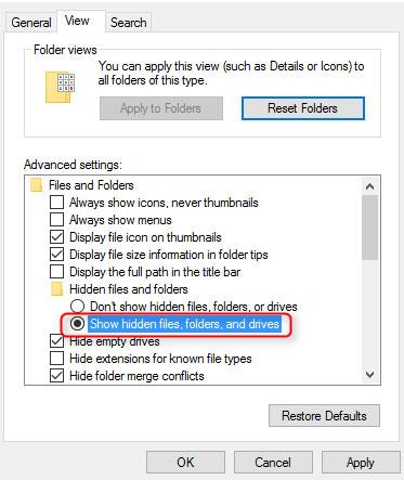 lock folders