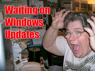 Frustrated user waiting on Windows Updates
