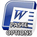 Image for What does the Paste Options box do in MS Word?