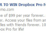 Image for Win a Dropbox Pro account for LIFE