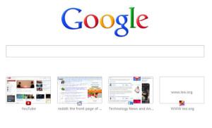 Chrome history icons