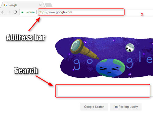 Google search vs address bar