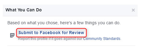 submit to Facebook for review
