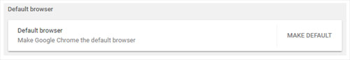 Chrome default browser