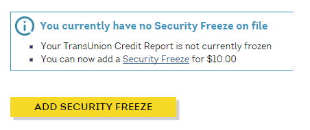Transunion freeze