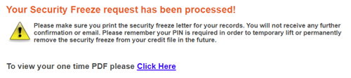 equifax freeze
