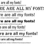 Image for How to display all your font samples in one place