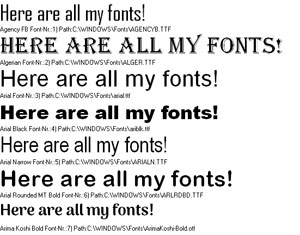 How to display all your fonts in a list | fonts | Computer