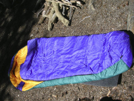sleeping bag spread out