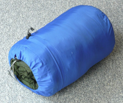 sleeping bag compressed