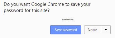 Chrome save passwords