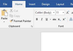 MS Word font