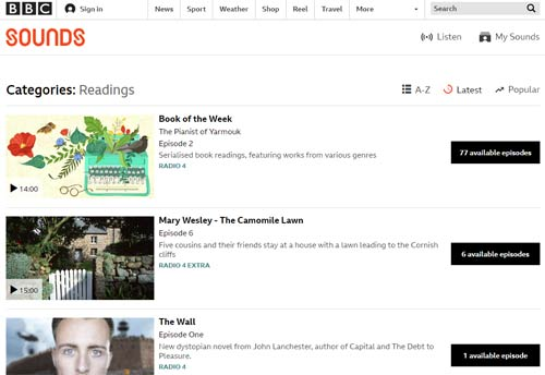 BBC audiobooks