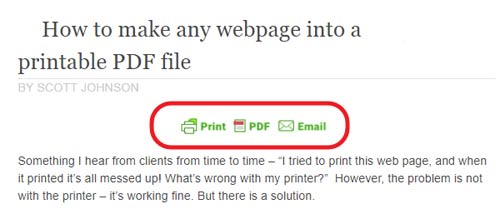 How to make any webpage into a printable PDF file | printing
