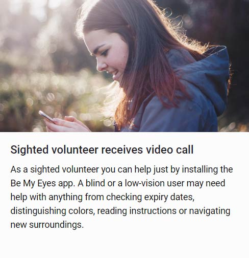 Be My Eyes volunteer