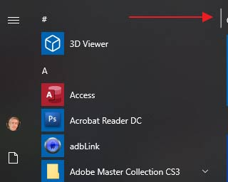 Windows 10 scroll bar